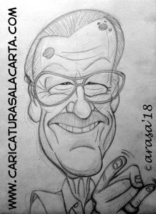 Caricaturas de famosos: Stan Lee Marvel