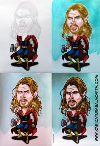 Caricaturas de famosos: Chris Hemsworth en 4 fases