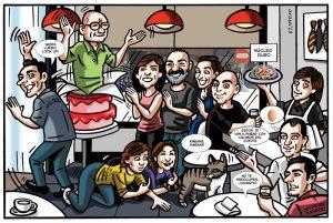 Viñetas cómic digitales con caricaturas personalizadas