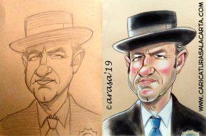 Proceso de Creación de la caricatura de Gene Hackman
