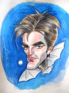 Caricaturas de famosos: Robert Pattinson (Crepúsculo)