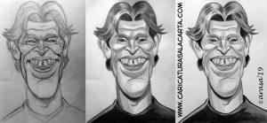 Caricaturas de famosos: Willem Dafoe, creación