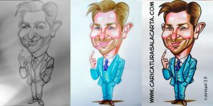 Proceso creación caricatura 1 hora de Bradley Cooper