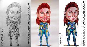 Sophie Turner es Sansa Stark en Juego de Tronos y participa en X-Men. Proceso de creación de su caricatura