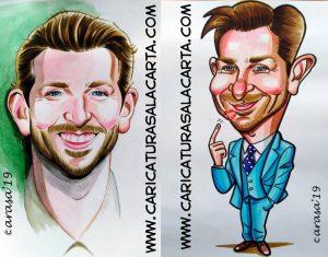 Caricatura y retrato del actor Bradley Cooper para el blog
