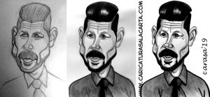 Proceso de creación de la caricatura de Cholo Simeone