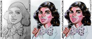 Proceso de creación de la caricatura de Camilo Sesto
