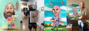 Montaje de caricaturas con fotos clientes
