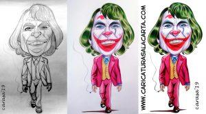 Así se ha creado en 3 fases la caricatura de Joaquin Phoenix como Joker