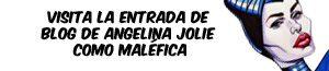 Banner de la caricatura de Angelina Jolie como Malefica