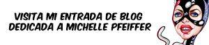 Banner de la entrada de blog con la caricatura de Michelle Pfeiffer como Catwoman