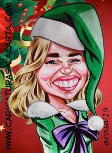 Caricaturas regalos personalizados Navidad Emilia Clarke