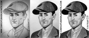 Caricatura de Robert de Niro en 3 fases